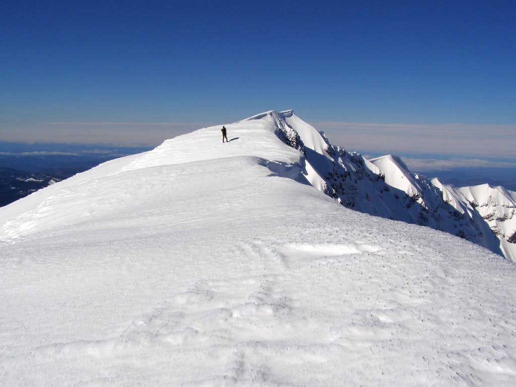 Karl and the crater rim