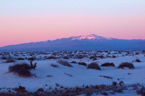 Sierra Blanca from White Sands N.M.