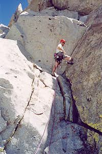 Reese Martin on the crux...