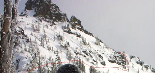 West Face of Three Way Peak