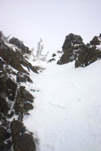 Chute after west face traverse