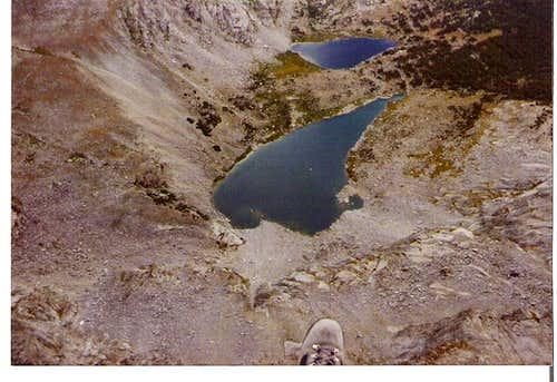 Bear Lake from summit of Lizard Head