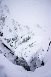 Looking down from Three Way Peak