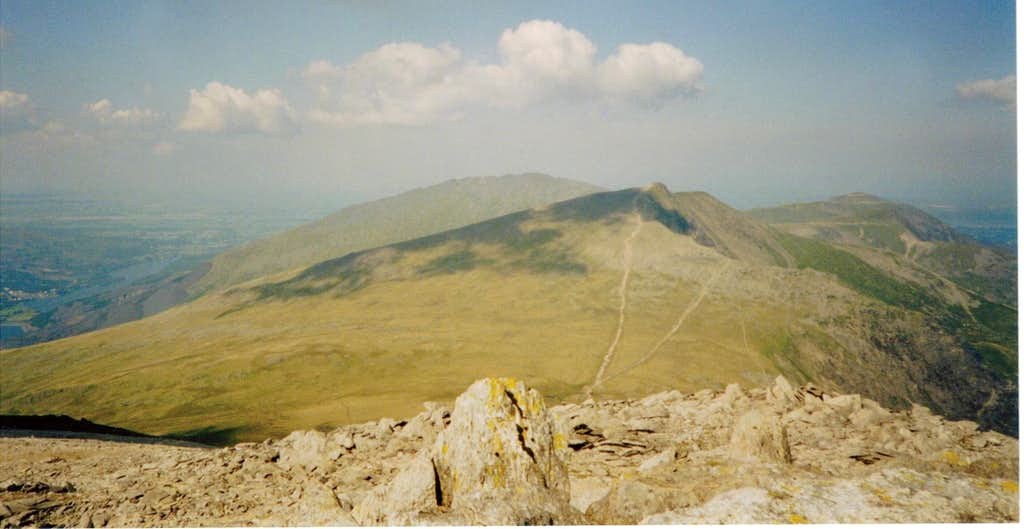 View from Glyder Fawr to Y Garn