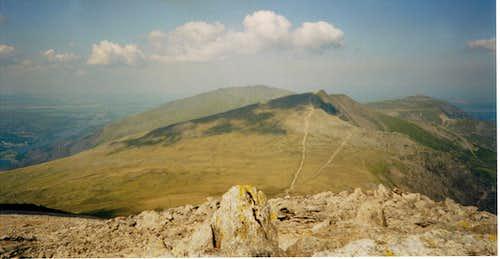 View from Glyder Fawr to Y Garn
