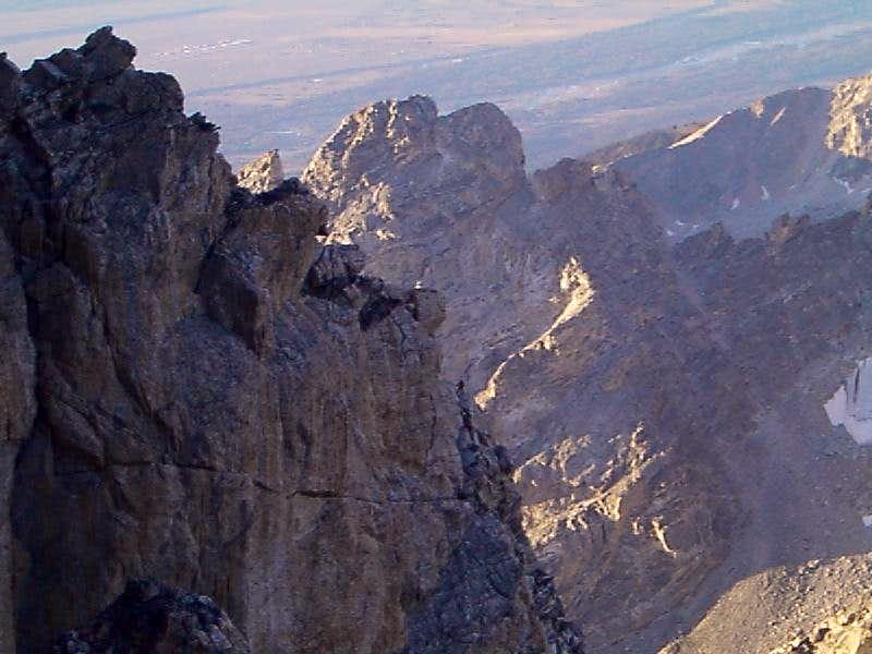 Climber on the Exum