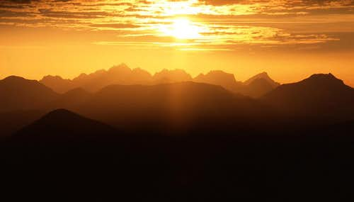 Cheam Range Sunset