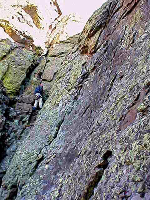 Beginning the climb up the...