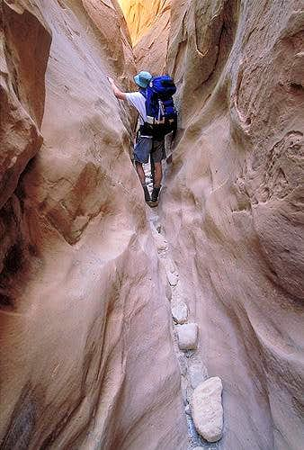 Hiking in Little Wild Horse Canyon