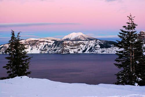 Mt. Scott from Crater Lake rim