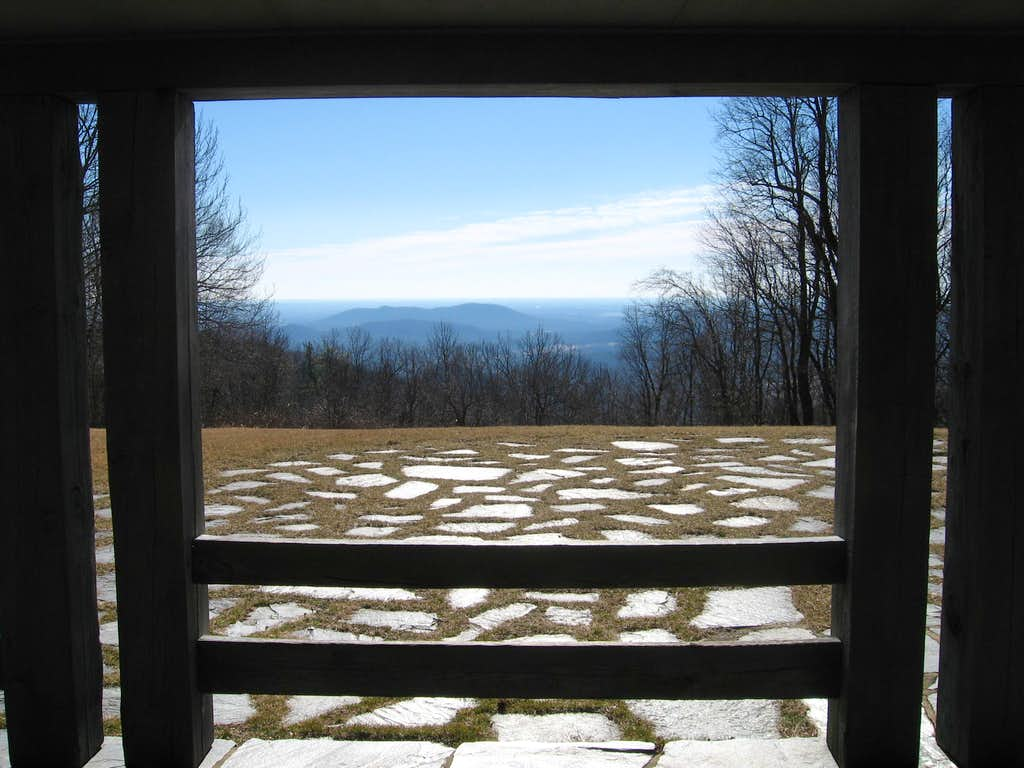 View of Overlook from Info Center