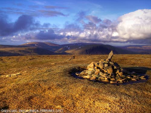 White Coomb Summit Cairn