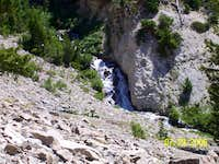 Waterfall on road into Boulder Basin