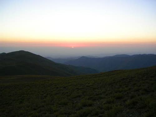sunrise in Shirbad mt.