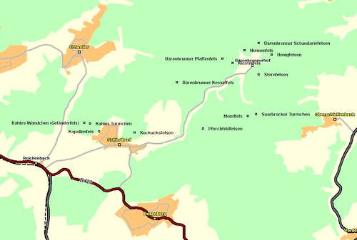 Map of Bärenbrunn Valley