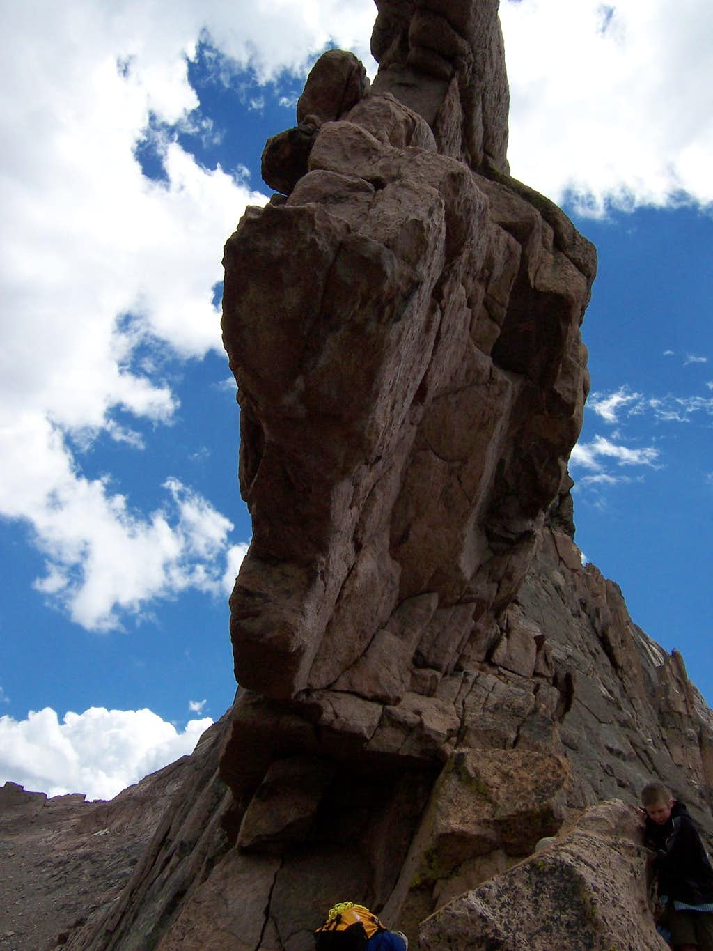 Looking Up at Keyhole Rock Formation