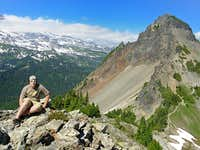 Pinnacle Peak from near Plummer Peak summit