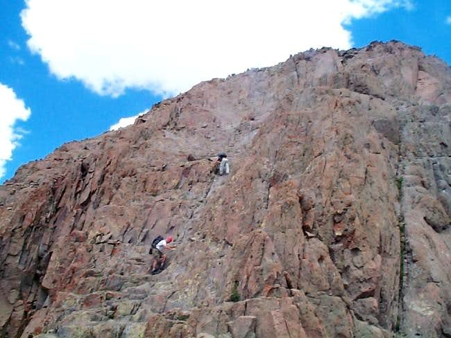 Summit Pitch of Wetterhorn Peak