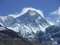 Mount Everest as seen from upper Gokyo Valley
