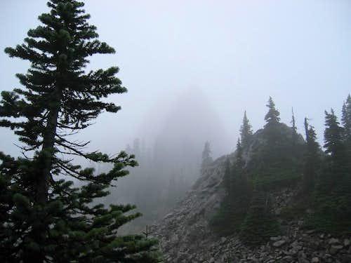 Lemei Rock,  another fogbound effort.