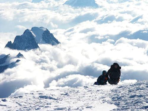 Mont-Blanc : arrival on the...