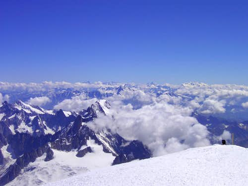 Mont Blanc summit shot