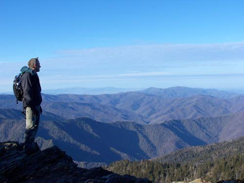 Joe on top of Mt. Leconte