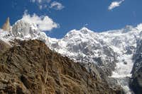 (L-R) Lady Finger (6000m), Hunza Peak (6270m), Ultar I (7329m) and Ultar II (7388m) from the SW