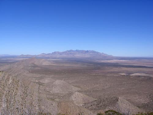 Organ Mountains from North Anthonys Nose