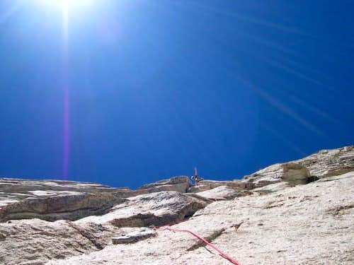 2nd Pitch of Harding Route on...