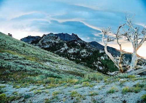 Sunrise over Lone Peak