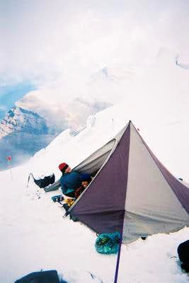 High camp on Robson\'s North...