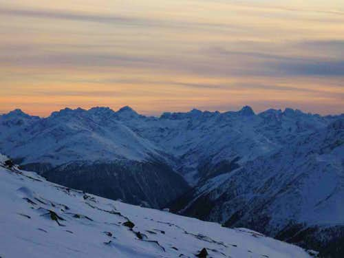 Sunset in Hohe Tauern