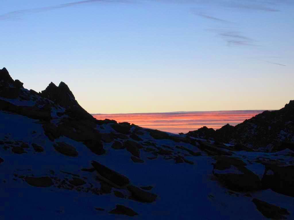 Wonderful colours of sunrise