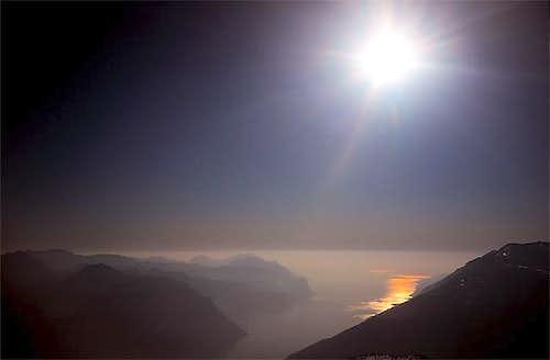 Garda lake from Stivo Summit