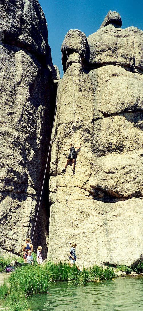 Climbers at Sylvan Lake, Custer State Park