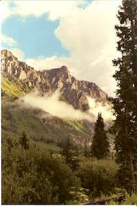 Lower Peaks with fog
