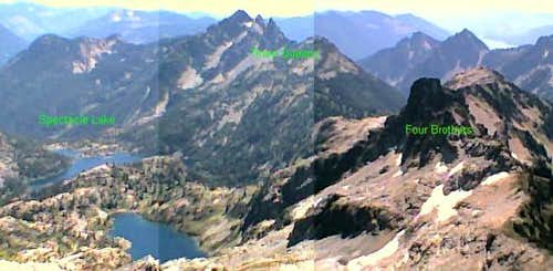 Looking southeast, the summit...