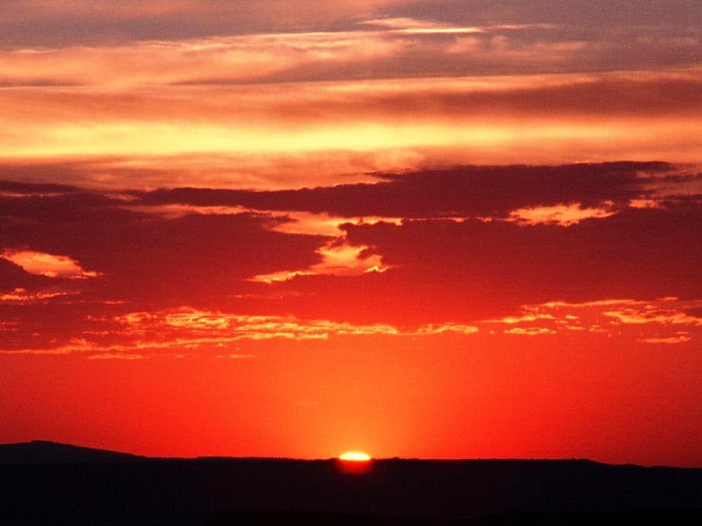 Sunset the night before Crane Mountain