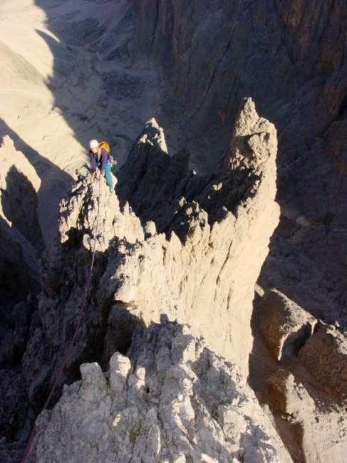 My wike Rike climbing at the...