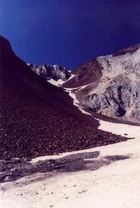 Between peaks 9775 & 9509