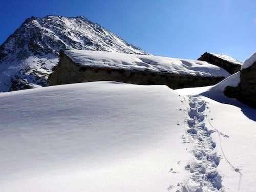 L'alpeggio Turin (2406 m), 22 febbraio 2007
