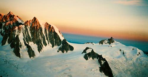 Great glaciers in the Area of Mont Blanc