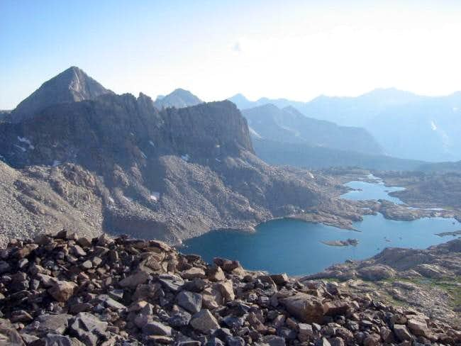 Columbine Peak (left) and...
