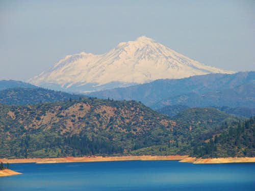 Mount Shasta from Shasta Dam