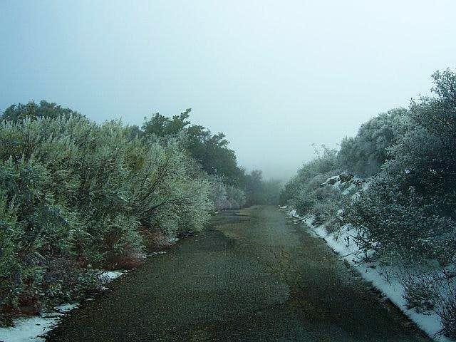 Icy Camino Cielo Road