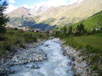 Glacier river on the way to Saas Fee