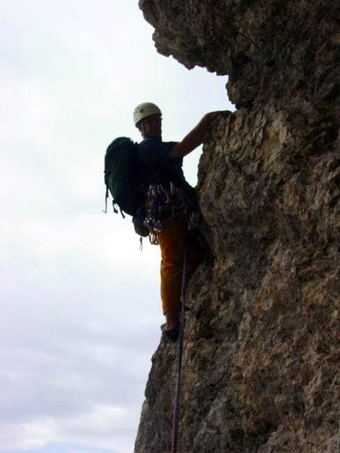 Climbing the crux of the...