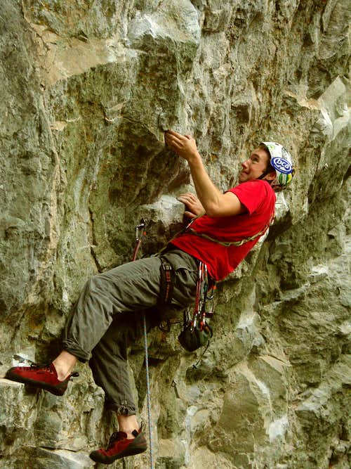 Dave Gertler on Super Baddest 5.12d