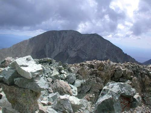 Summit cairn in lower left....